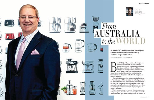 Jim Clayton CEO of Breville Australia