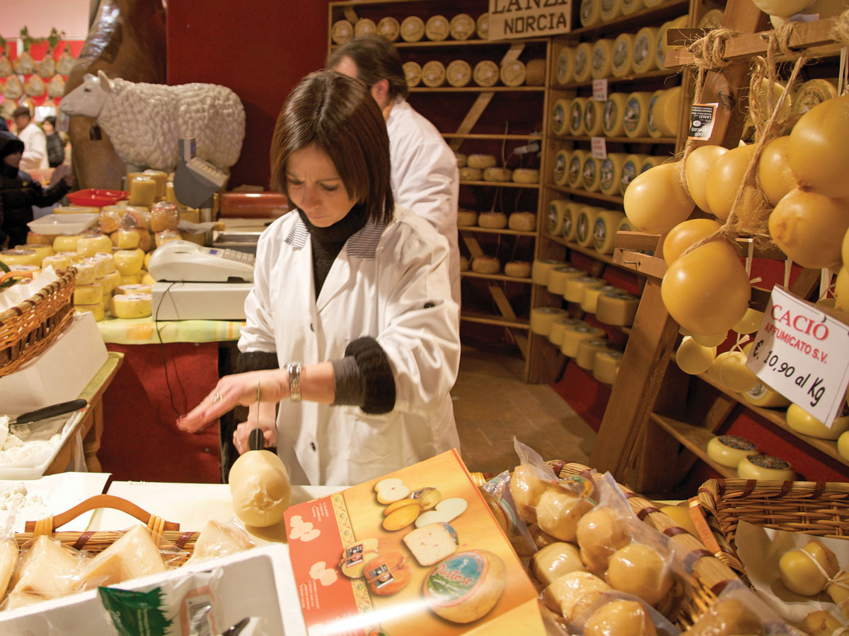 Umbrian cheese shop