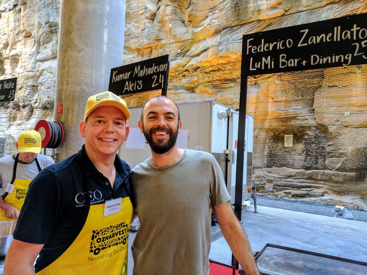 Chris Dutton & Federico Zanellato, head chef of LuMi Bar & Dining.