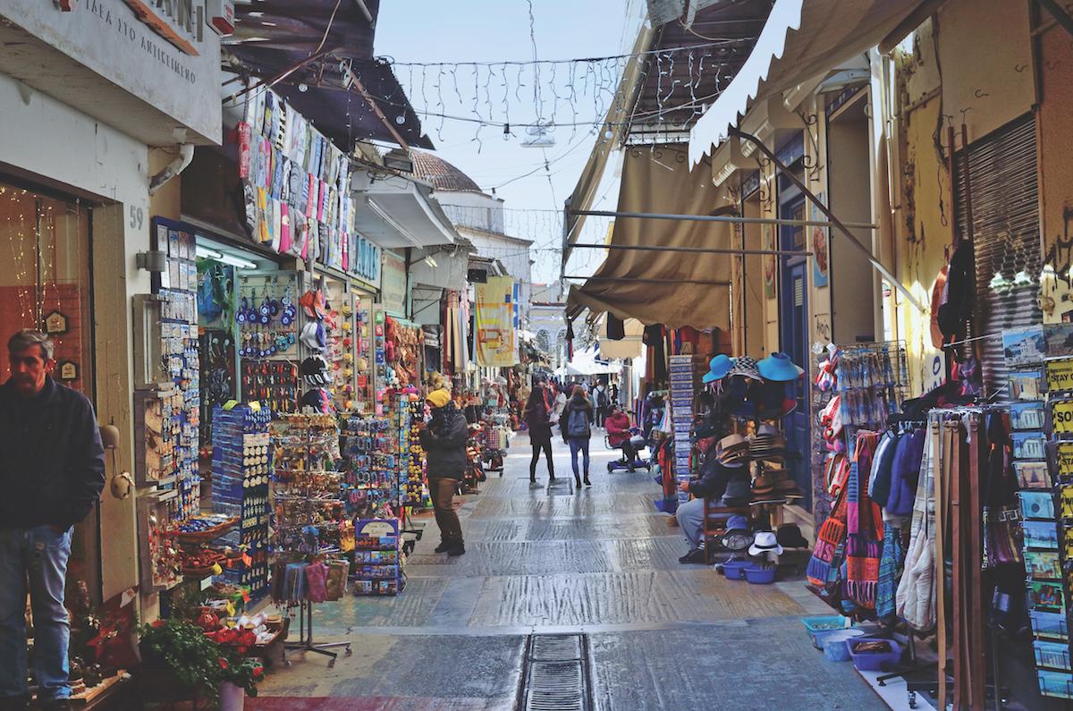 Athens Monastiraki Bazaar shopping