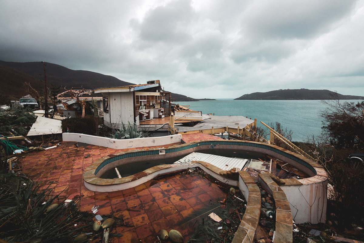 Devastation in the Virgin Islands after Hurricane Irma