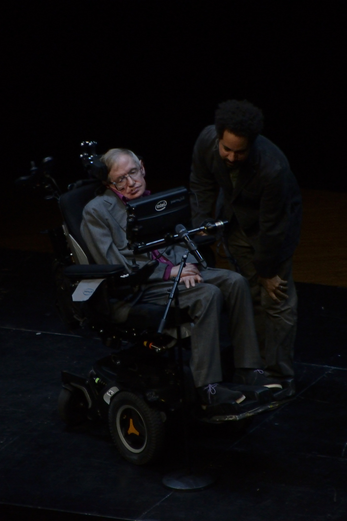 Stephen Hawking meeting with President Barack Obama