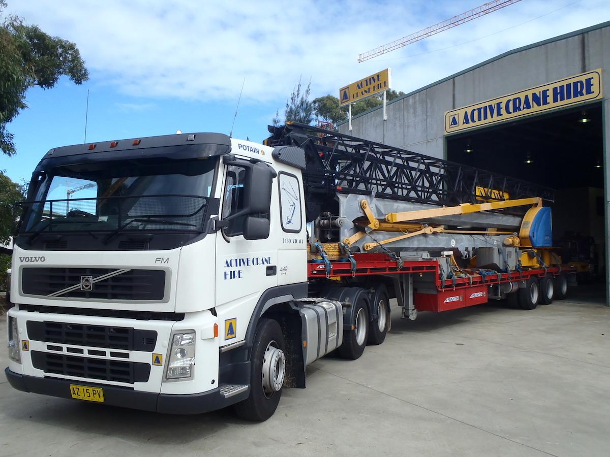 Active Crane Hire truck