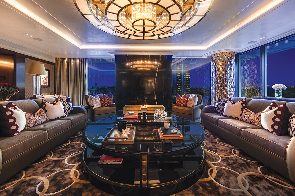 Interior of 7,500-square-foot penthouse in Knightsbridge, London