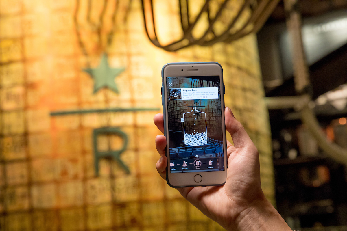 Augmented reality, Starbucks Shanghai Roastery