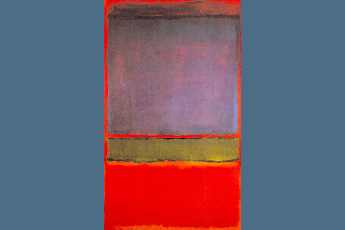 No. 6 (Violet, Green and Red), Mark Rothko, 1951