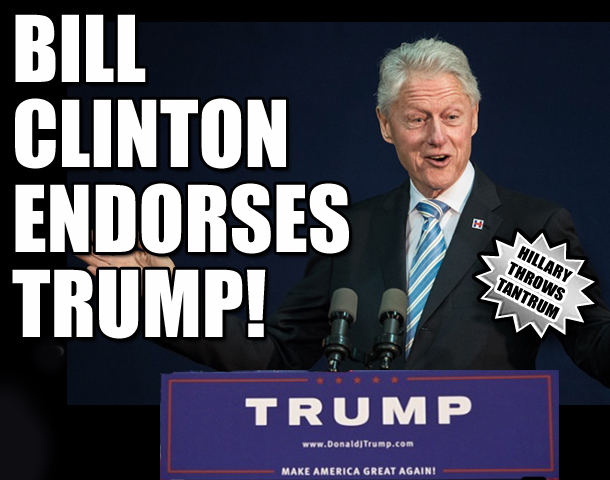 Bill Clinton endorses Donald Trump