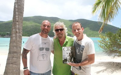 Branson photo at Necker Island