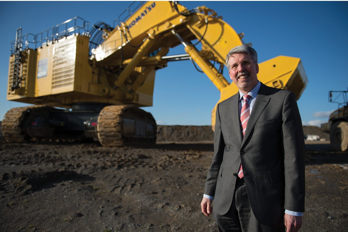 Ralf Petzold, Executive Vice President of Komatsu Germany and President of its Mining Division
