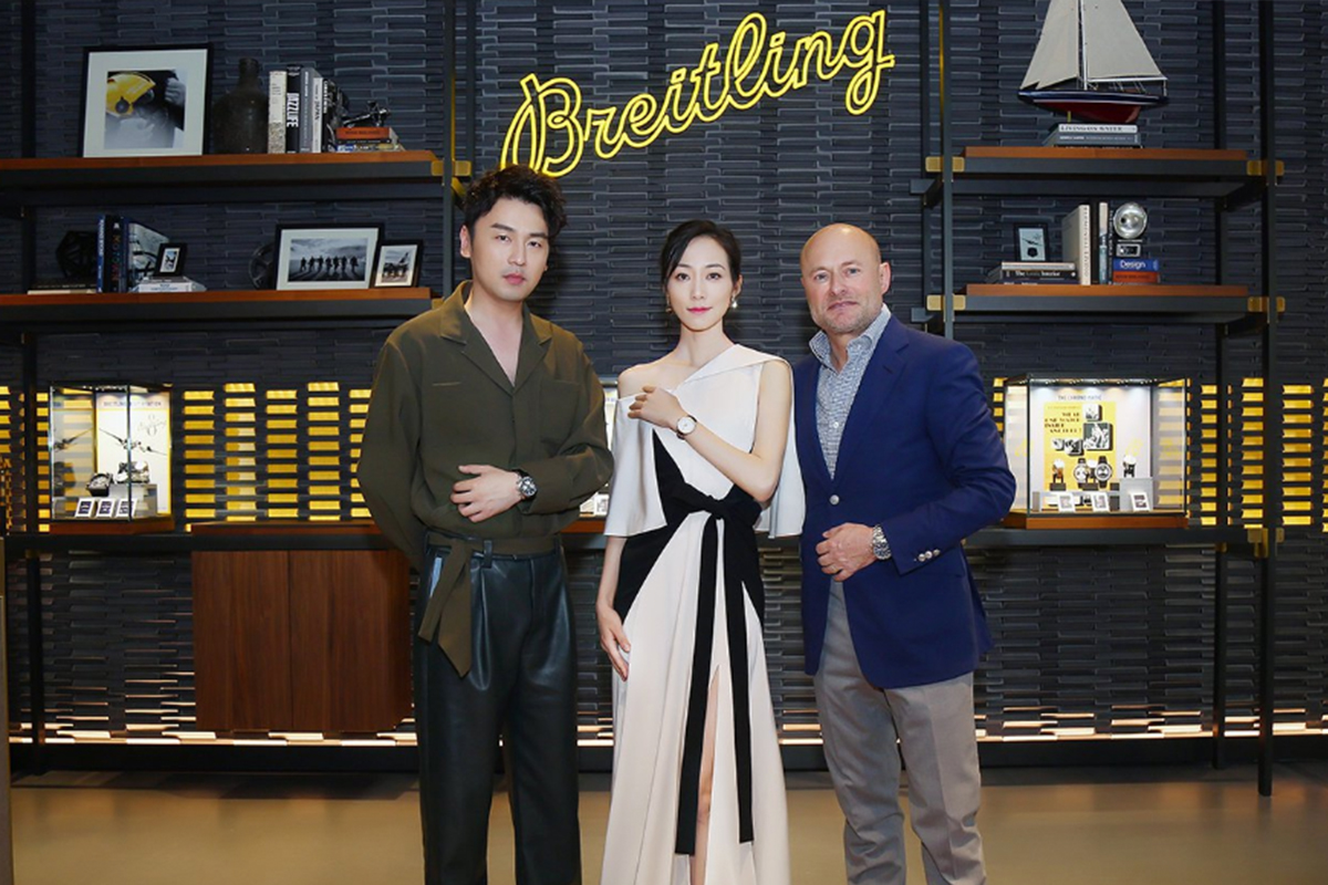 Breitling celebrated its first flagship opening in Asia