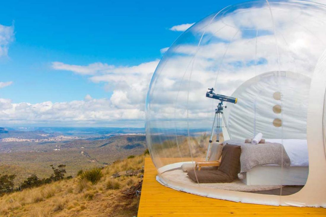 sleep under the stars in bubble tents at the biggest canyon in the world