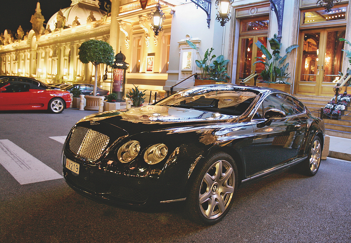 Luxury vehicles abound at the Casino de Monte-Carlo.