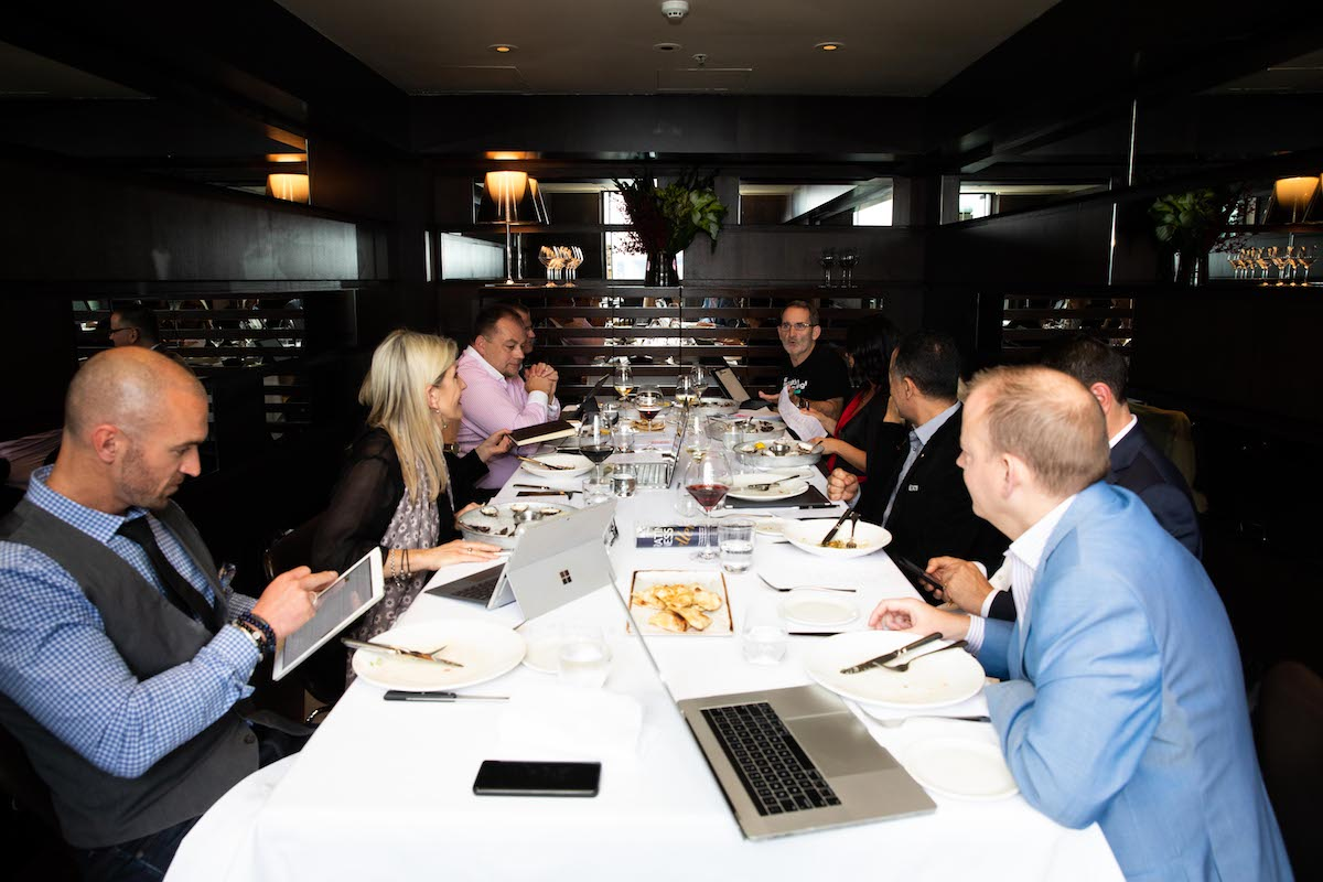 2018 Executive of the Year Awards judges gather for lunch at Cafe Sydney