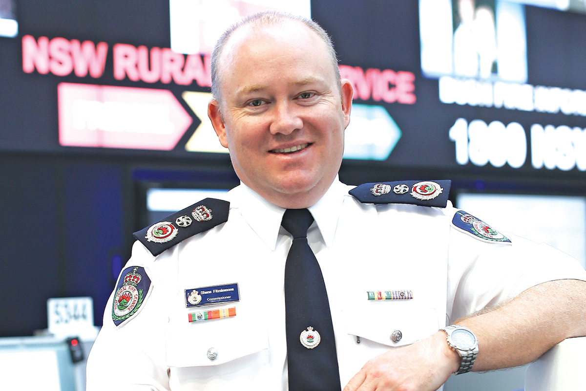 Shane Fitzsimmons, Commissioner of NSW Rural Fire Service