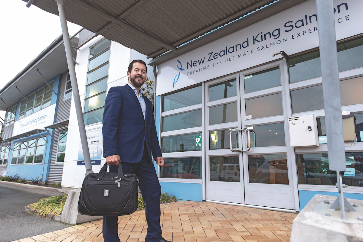 Grant Rosewarne CEO of New Zealand King Salmon