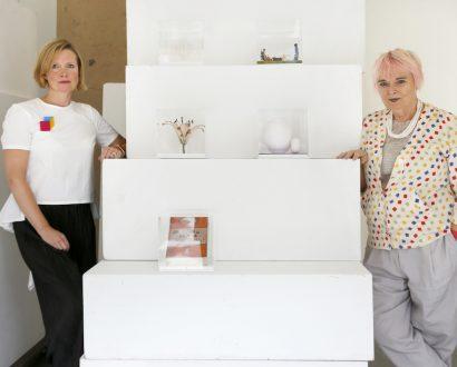 Exhibition-curators-Laura-Culpan-left-and-Susie-Allen-IMAGE-CREDIT-Dan-Fontanelli