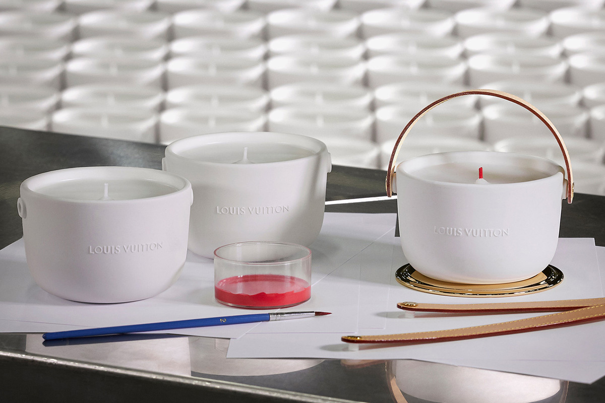 Louis Vuitton behind the scenes France candle