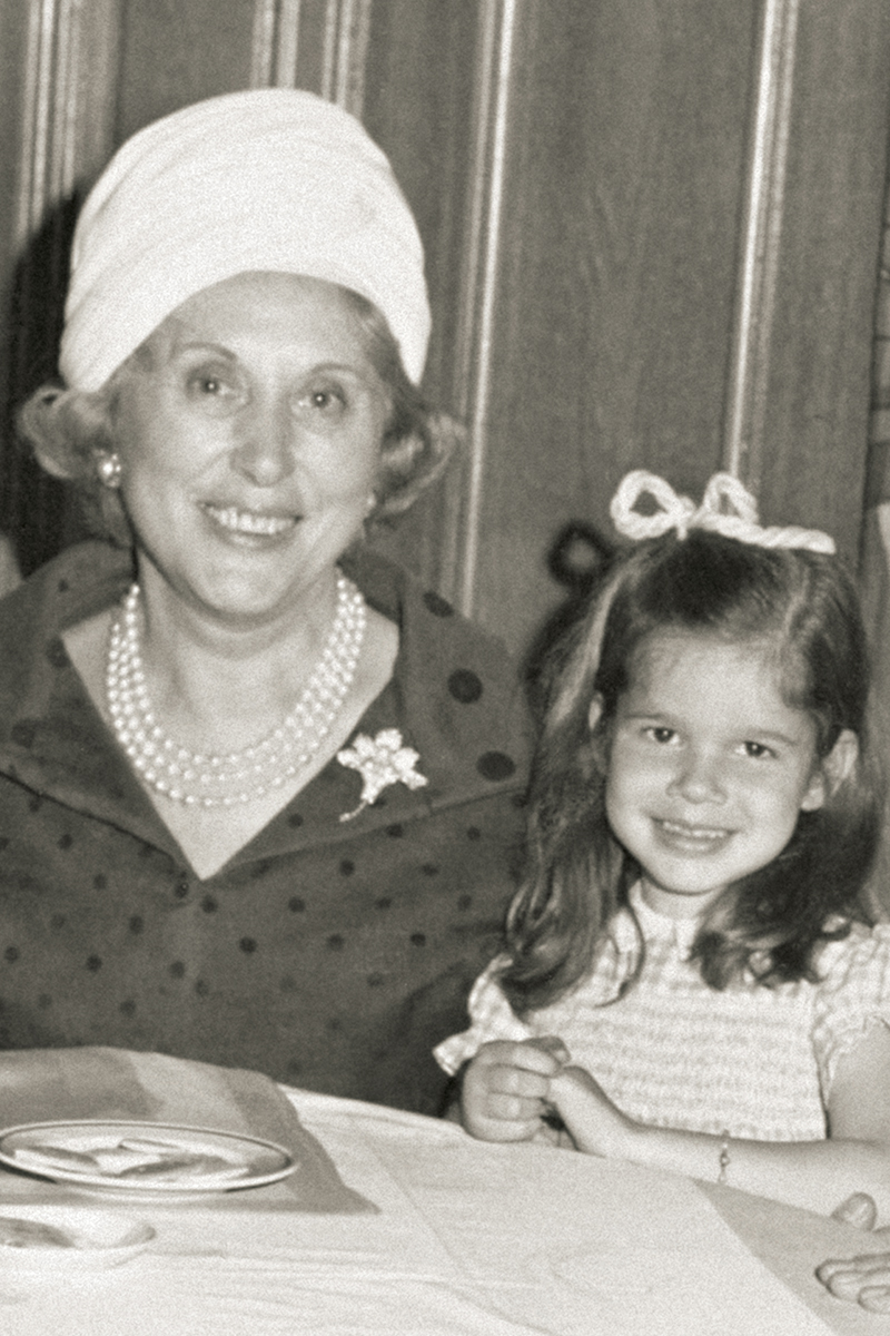 Aerin Lauder with her grandmother Estée Lauder