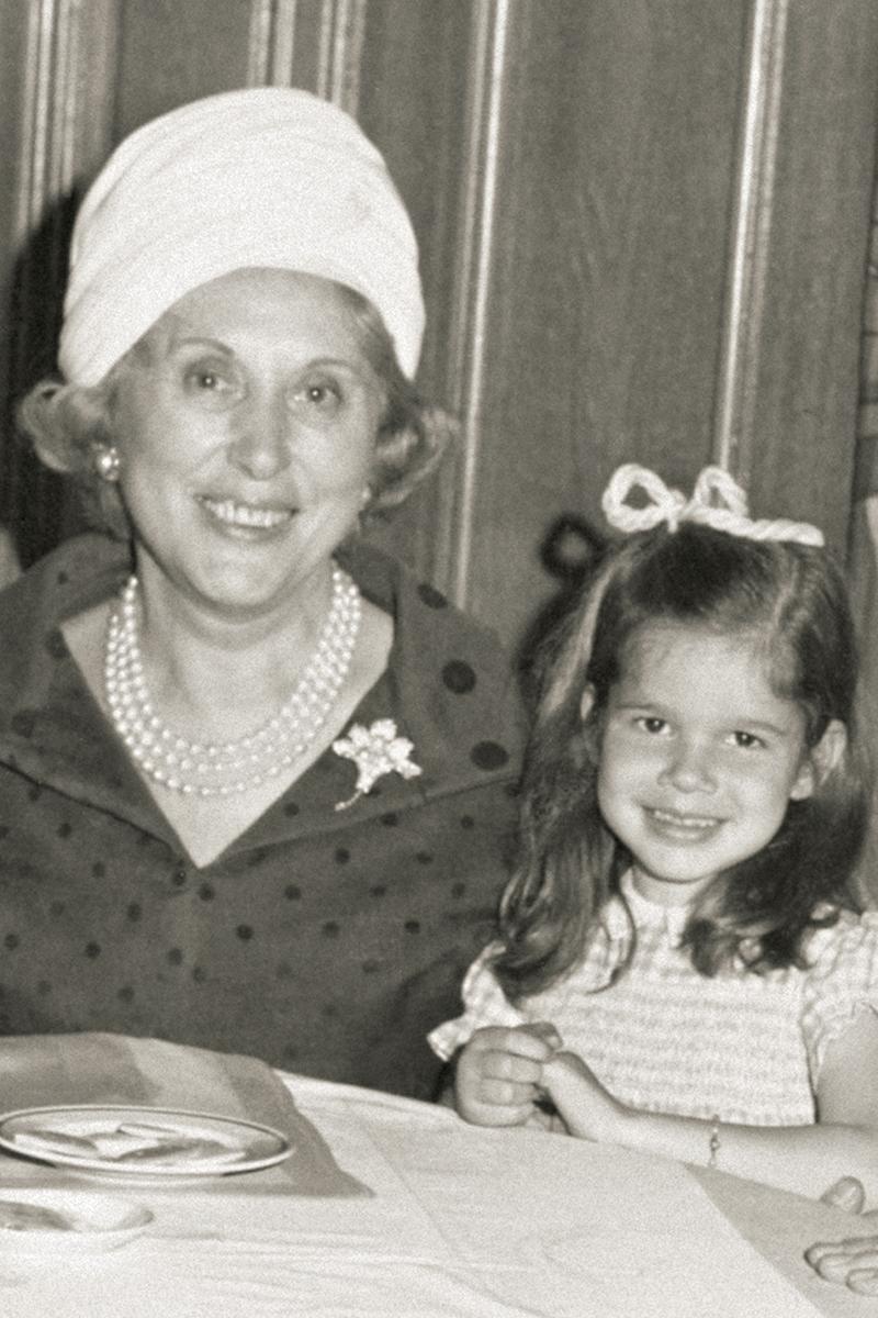 Aerin Lauder with her grandmother Estée Lauder