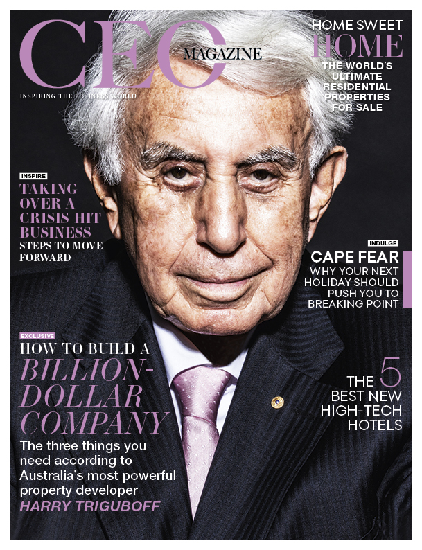 Harry Triguboff, cover star of The CEO Magazine ANZ June 2019 issue