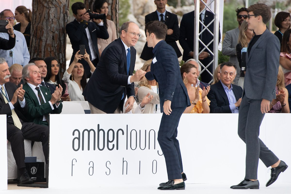 F1 drivers walking the fashion runway