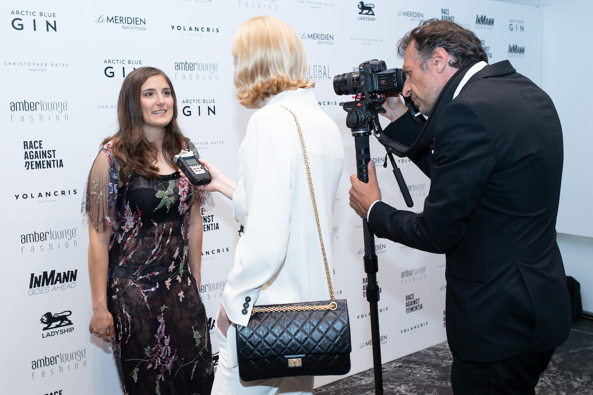 The CEO Magazine interviewing on the red carpet