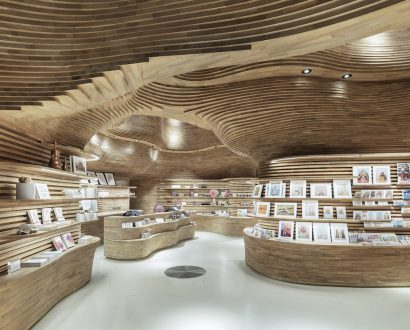 National Museum of Qatar interior, gift shop, by Koichi Takada Architects
