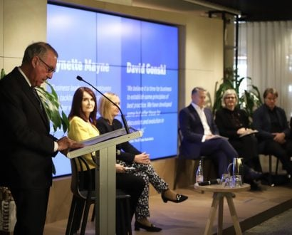 Co-Chair David Gonski speaking at The B Team's Future of Work announcement