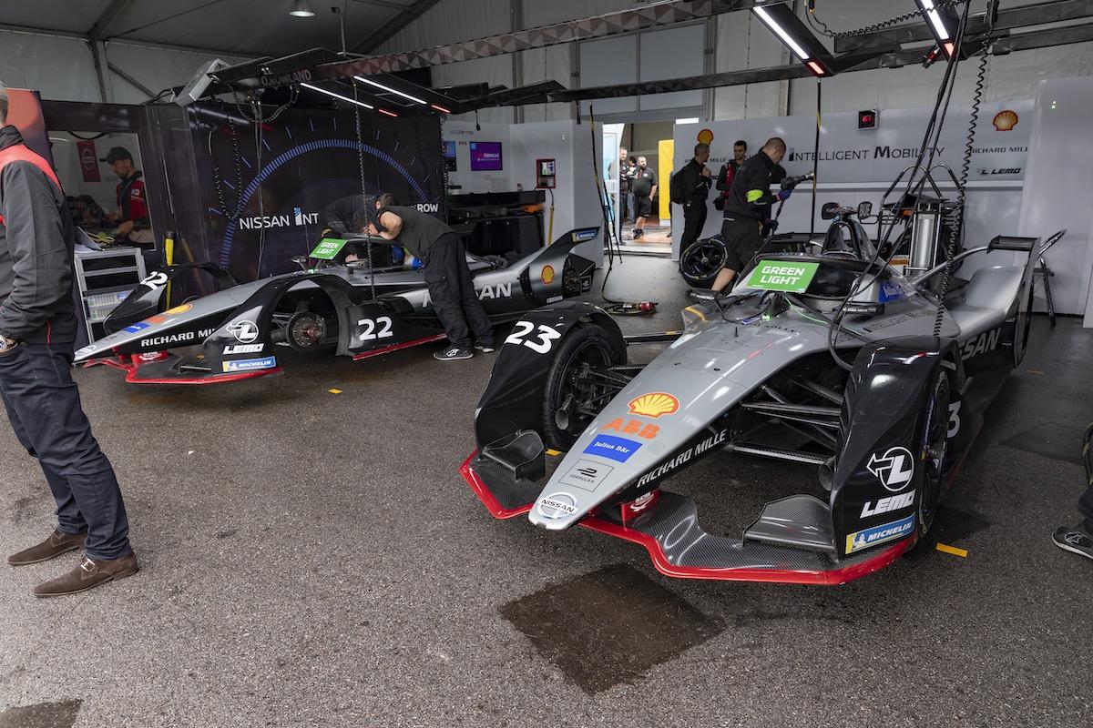 Formula E garage