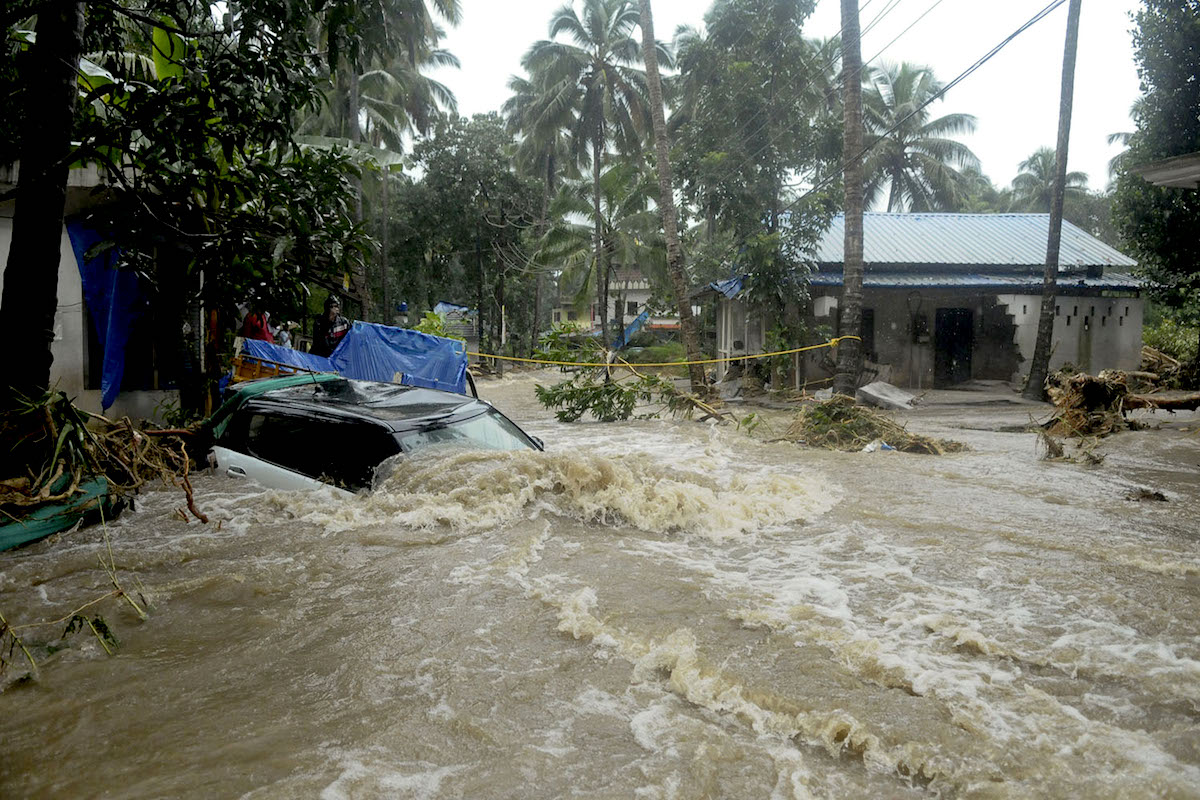 Monsoon flooding in Kerala, India