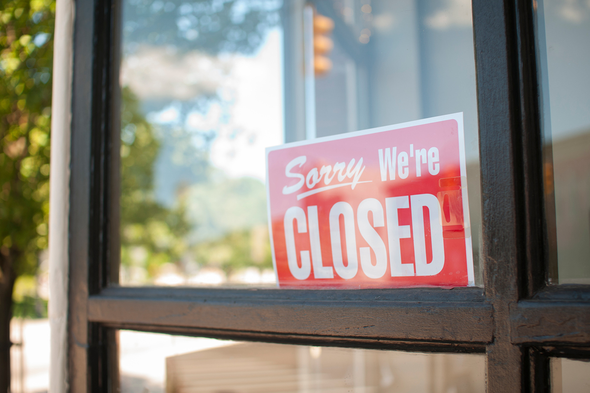 Sign in window says Sorry, we're closed