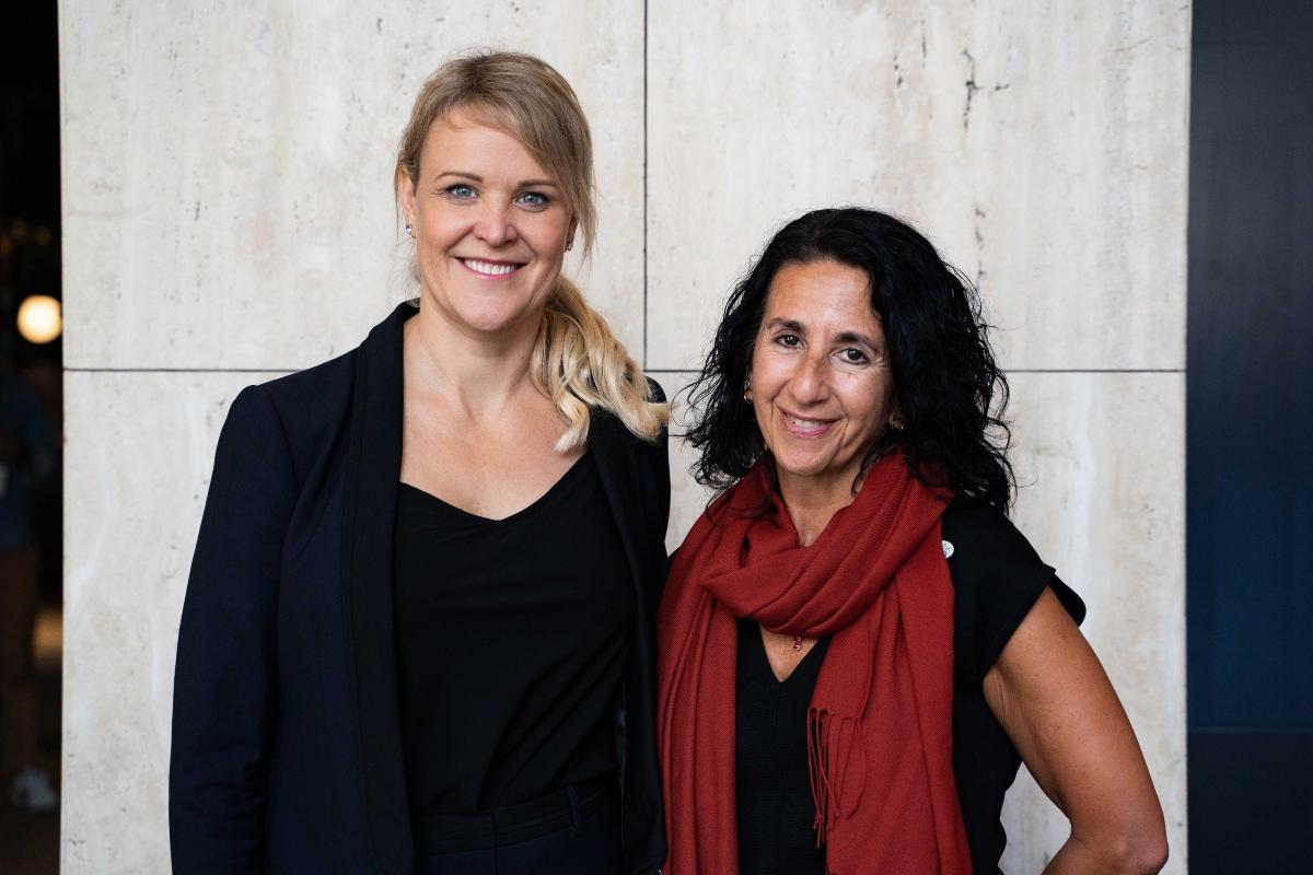 Christina Gerakiteys and Lisa Andrews