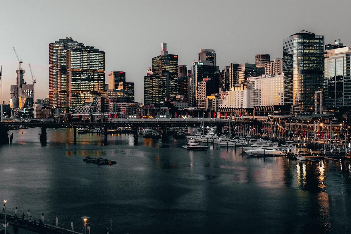 Sydney Circular Quay at dusk
