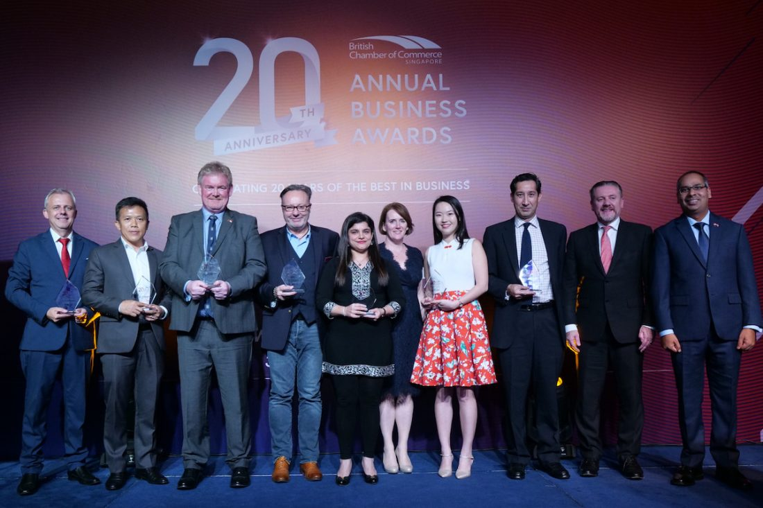 Winners of British Chamber of Commerce Singapore Annual Business Awards
