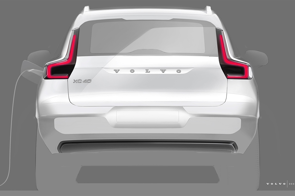 Sketch of all-electric Volvo XC40