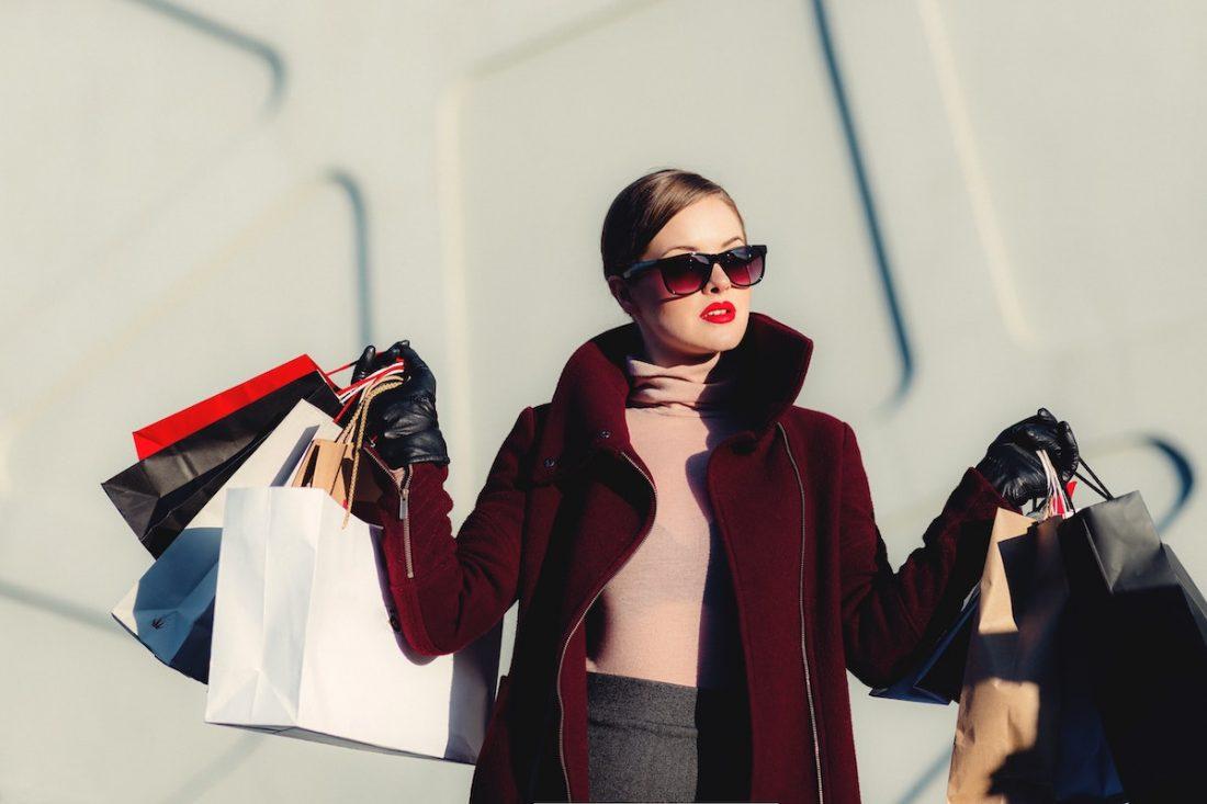 Woman shopping super rewards
