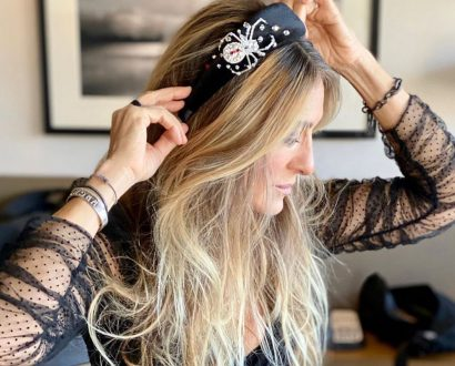 Sarah Jessica Parker wearing Lou Webb Collections #buyfromthebsuh
