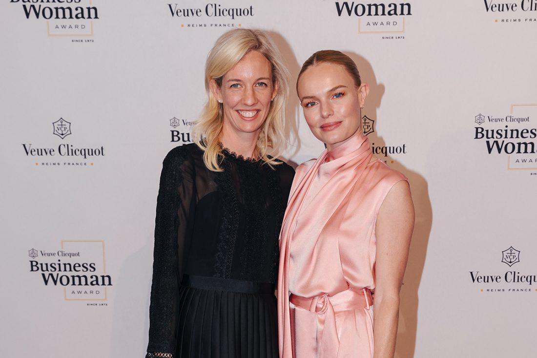 Every Veuve Clicquot Business Woman Award winner since 1972 including 2019 winner Kim Jackson (with Kate Bosworth).