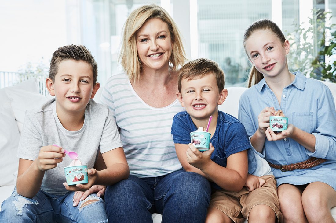Cass Spies, founder of Twisted, and her family