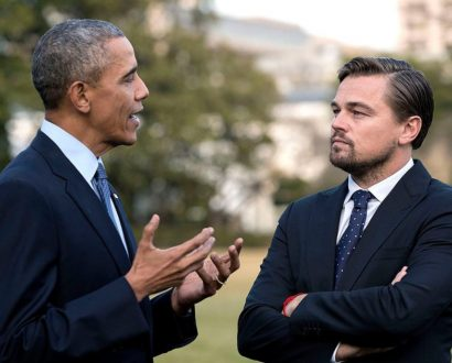 Leonardo DiCaprio and Barack Obama, climate change