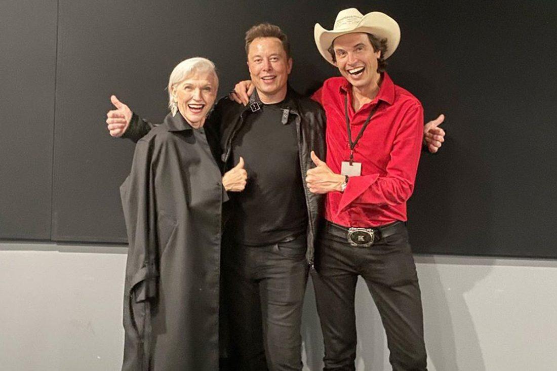 Maye Musk with Elon and Kimbal. Image: Facebook