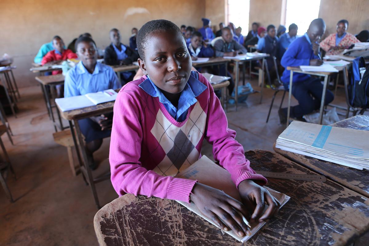 Patience, 13, returns to school in Zimbabwe