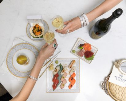House of K'dor Consultation-with-champagne-and-sushi