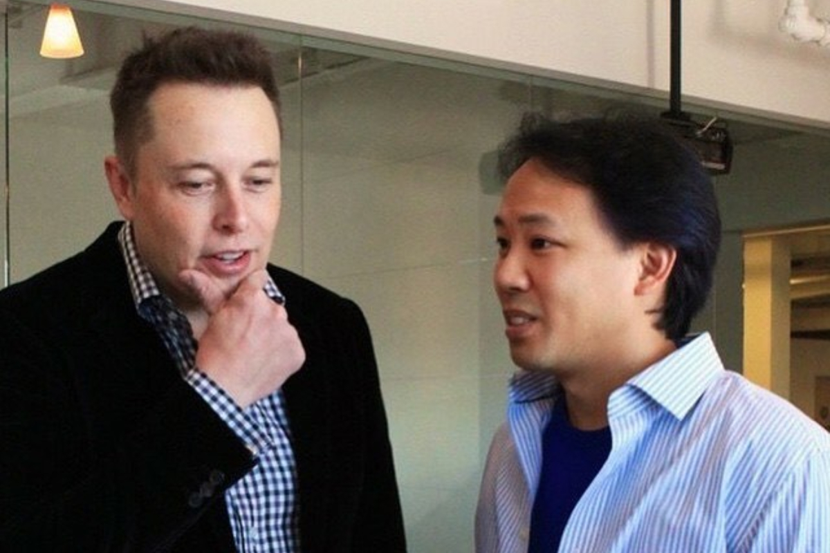Jim Kwik and Elon Musk at SpaceX