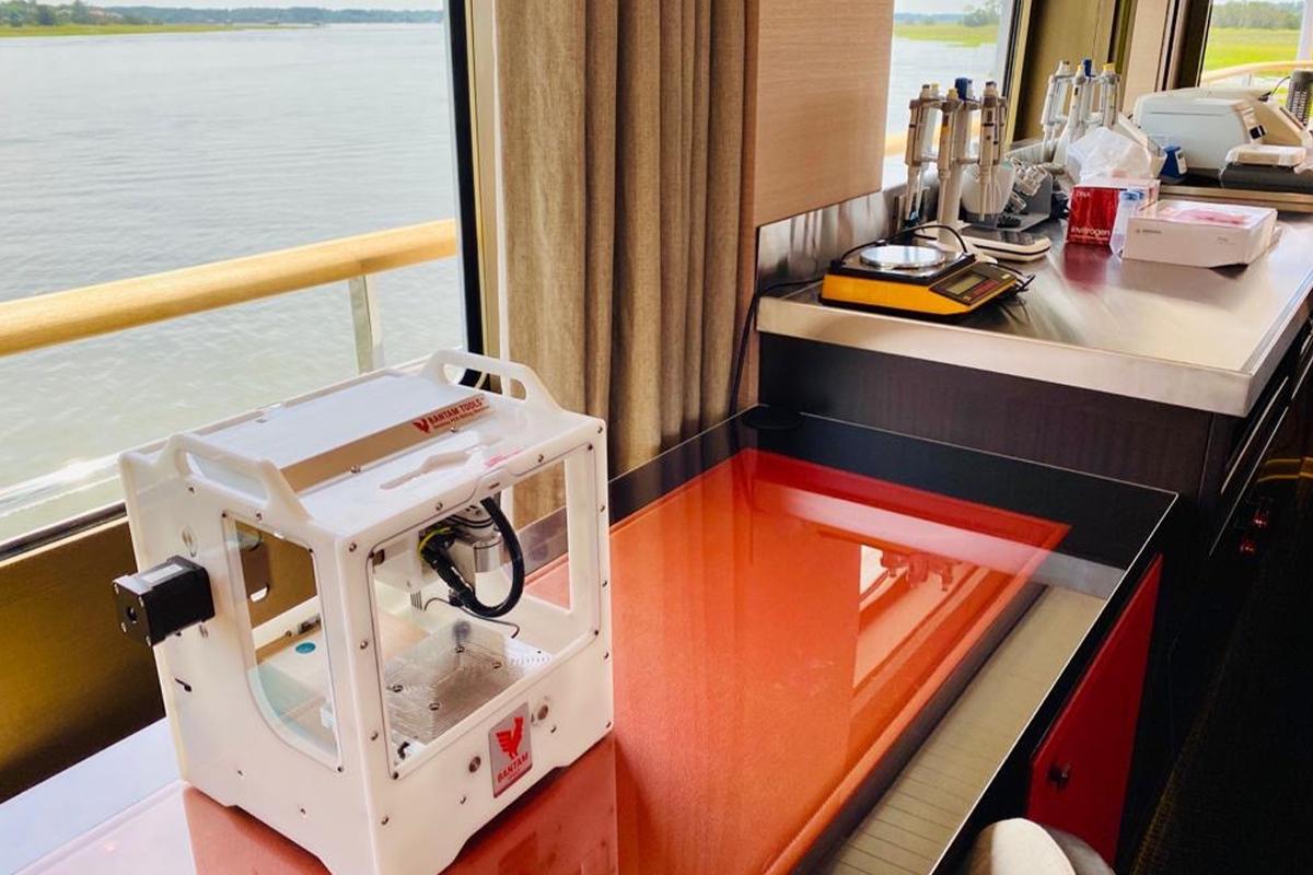 Superyacht Gene Machine COVID testing