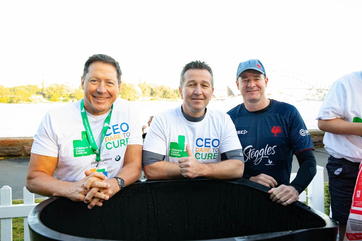 CEO Dare to Cure participants smiling