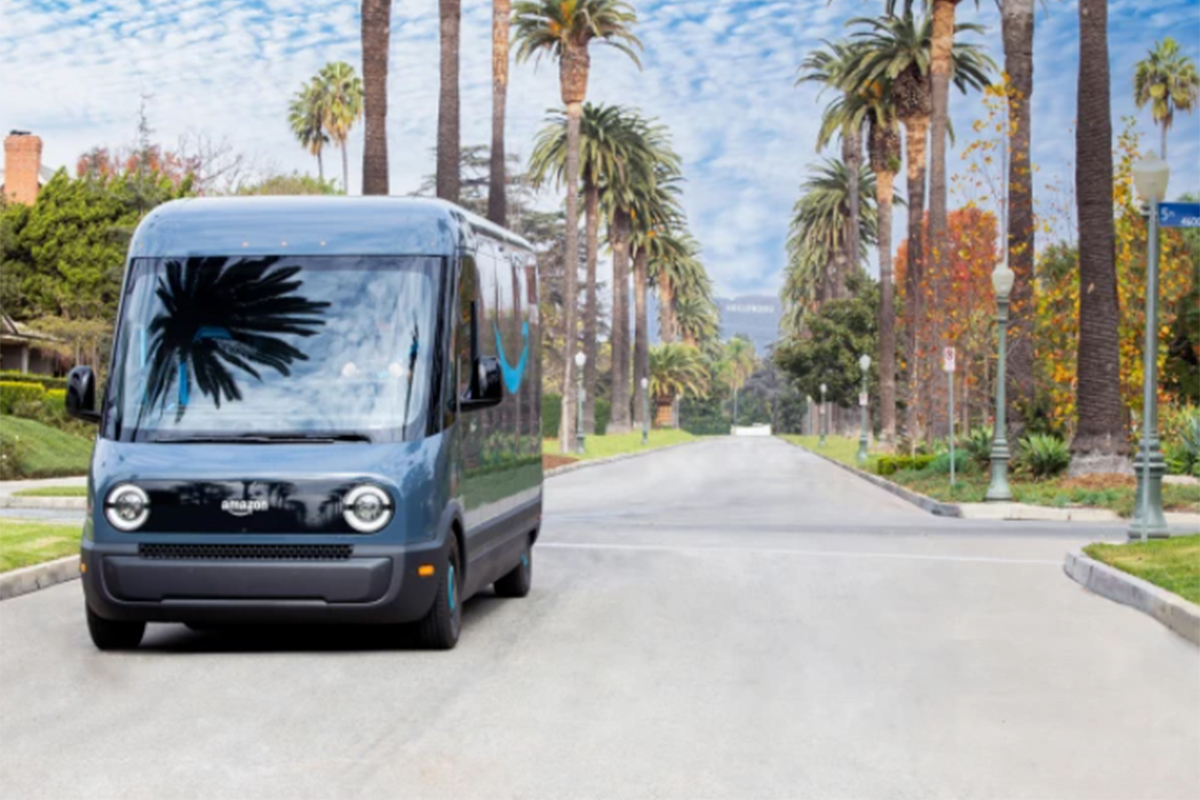 amazon, electric delivery vehicles