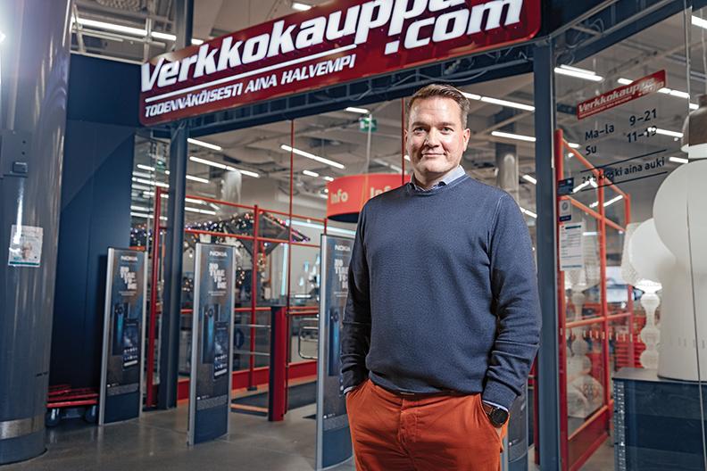 Panu Porkka, CEO of Verkkokauppa.com