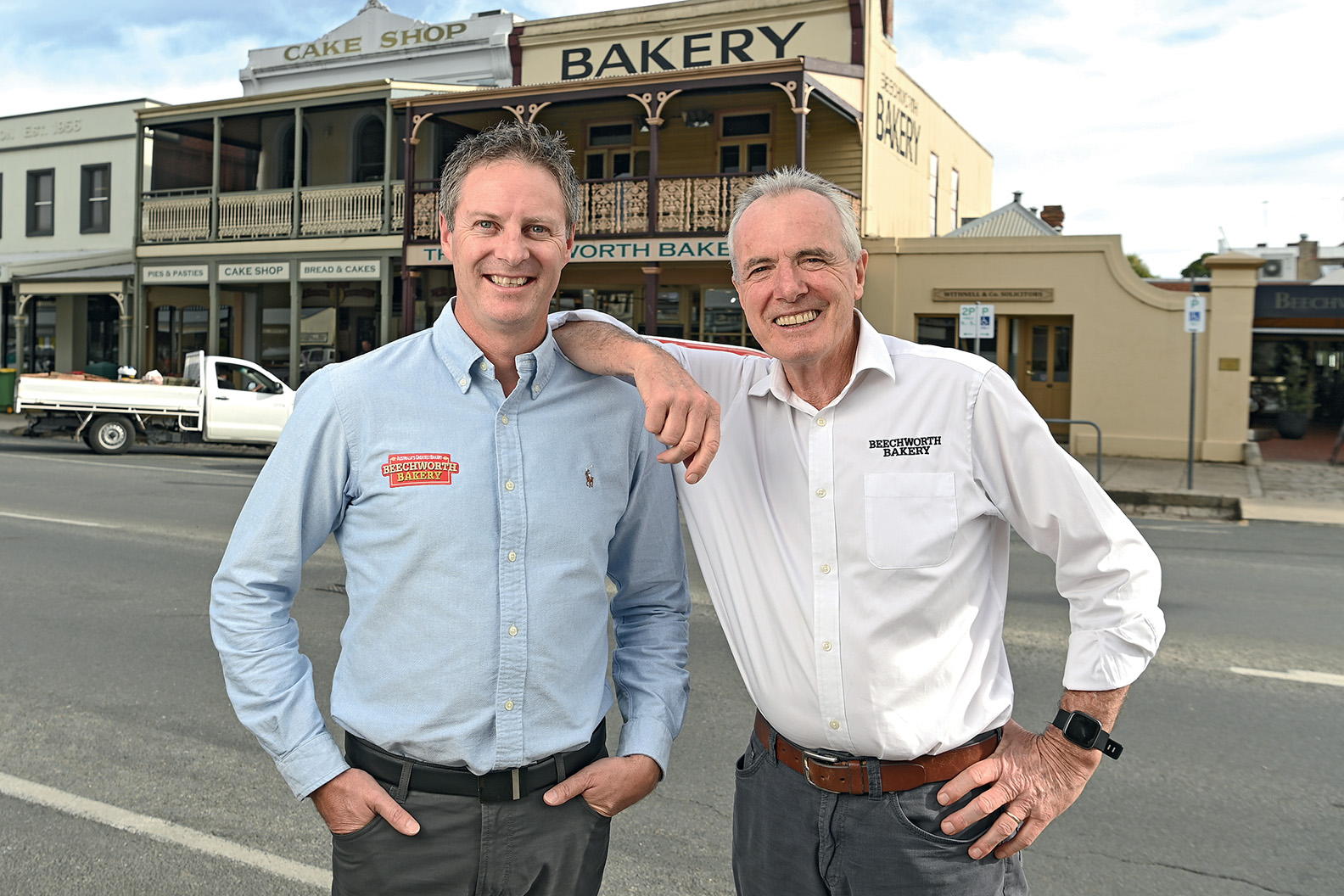 Marty Matassoni and Tom O'Toole, Co-Owners of Beechworth Bakery