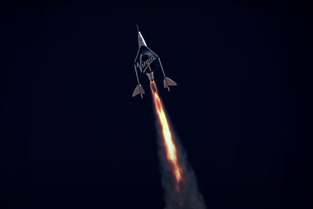 Image of Virgin Galactic in the space race